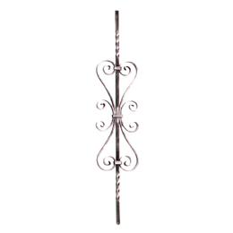 Panel decorativo modelo 49/3 de 90cm x 18cm de acero inoxidable