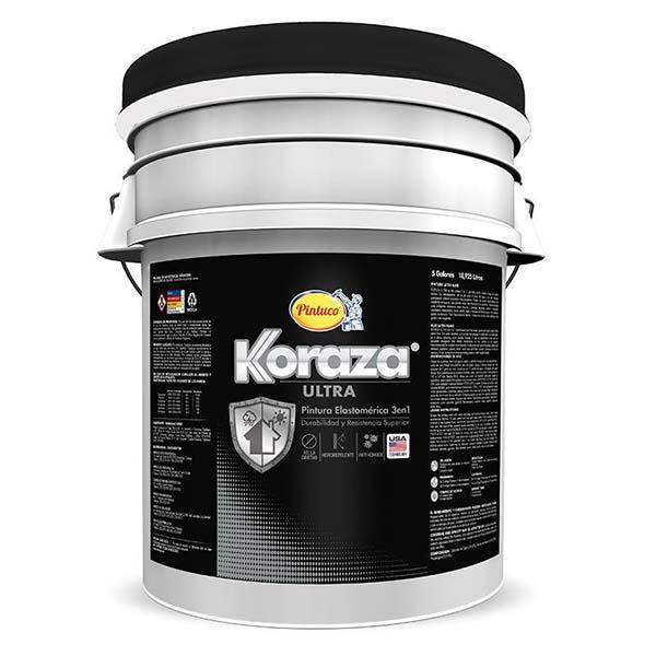 Pintura elastromérica Koraza Ultra 3 en 1 base accent 5 galones (18.92 litros) P