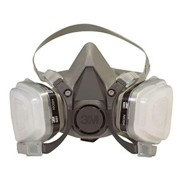 Máscara mediana de respiración para pintor con par de filtros 3M