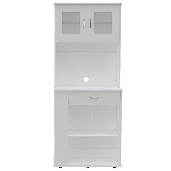 Mueble módulo microondas de 170cm x 70cm x 35cm modelo Capienza de color blanco