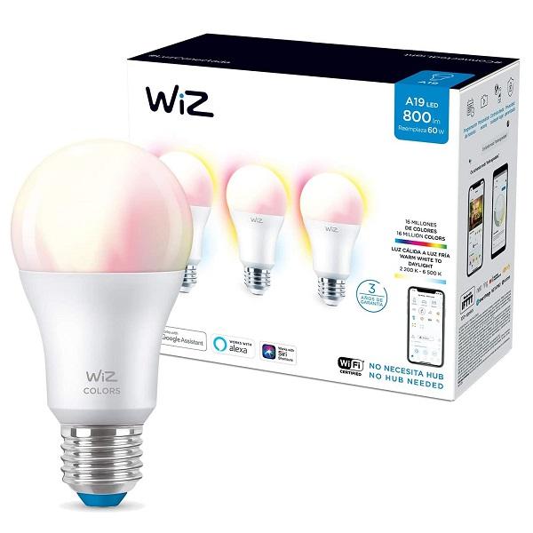 Bombillo de 8.8W A19 dimeable de luz cálida a fría controlable por WiFi multicol