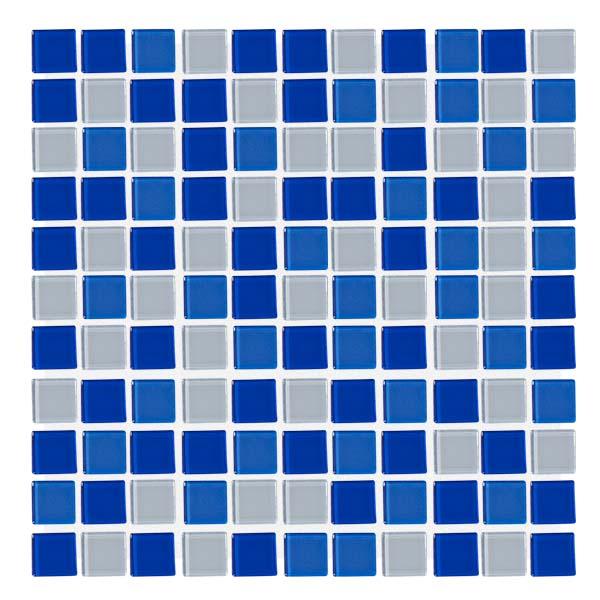 Malla de mosaiquillo vitreo de 30x30cm modelo aqua blue