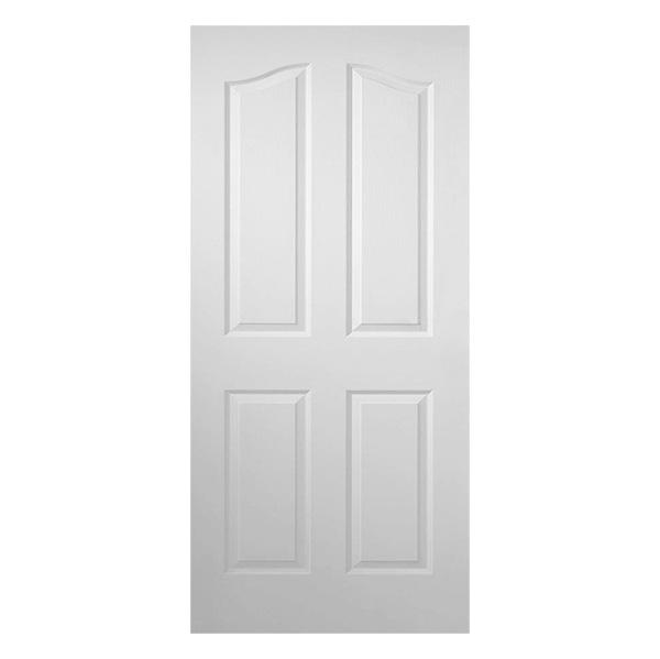 Puerta entamborada de 3' x 7' de madera de 4 paneles para interior  de color bla