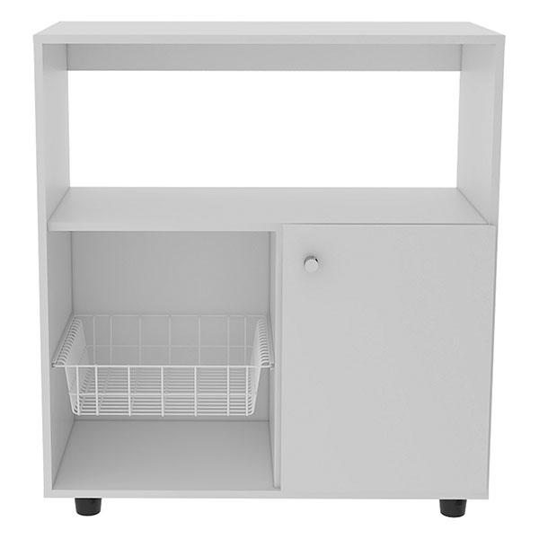 Mueble módulo microondas de 83cm x 80cm x 38cm modelo Austria 830 de color blanc