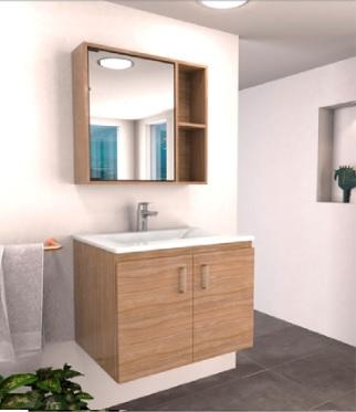 Mueble y lavamanos suspendido 63x48 trentino soder incluye desague sin sumidero