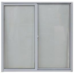 Ventana corrediza de 0.60m x 0.60m de aluminio color blanco INCO