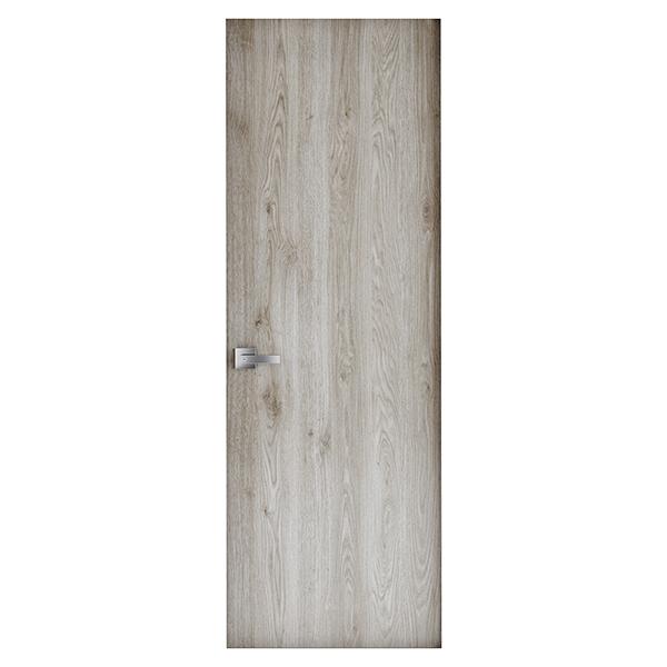 Puerta laminada de 2´ x 7´ de melamina modelo Ceniza lisa para interior color na