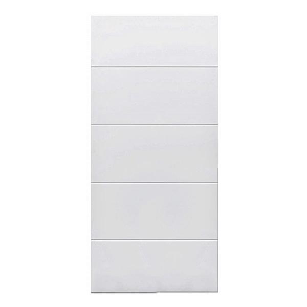 Puerta de metal toscana de 3' x 7' de color blanco