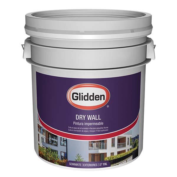 Pintura impermeabilizante dry wall de color blanco 5gl GLIDDEN