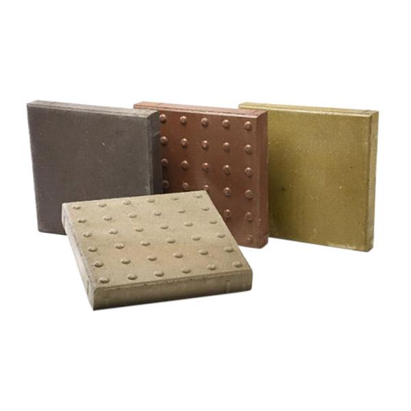 Adoquín sencillo de 40cm x 40cm x 6cm de concreto color gris