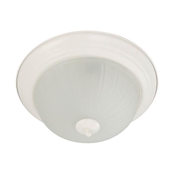 Plafón para techo de 2 luces rosca e27 de 60w acabado blanco