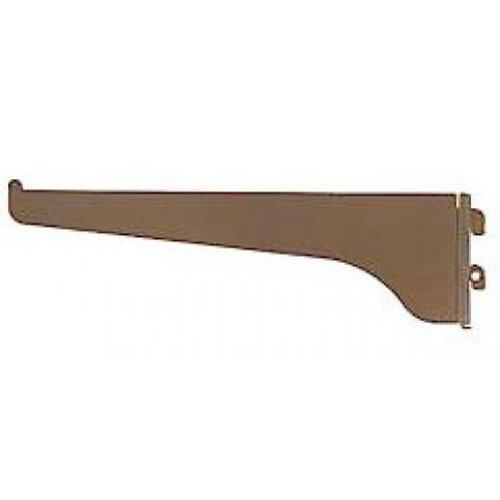"""(DNR) Brazo de riel de 12"""" de metal decorativo para tablillas de color marrón KN"""
