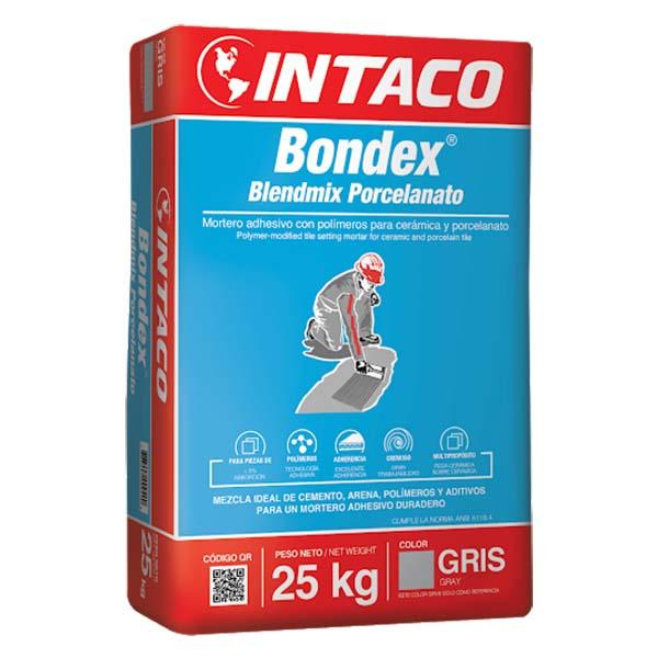Pegamento Bondex Blendmix Porcelanato de 25kg adhesivo con polímero para cerámic