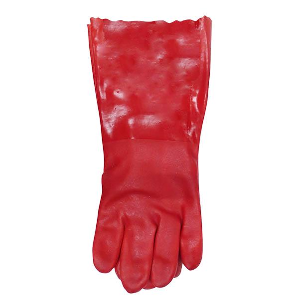 """Guantes modelo Ansell Scorpio de 14"""" cubiertos con PVC para aplicaciones química"""
