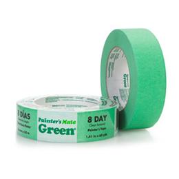 """Cinta adhesiva de 1"""" para pintar color verde"""