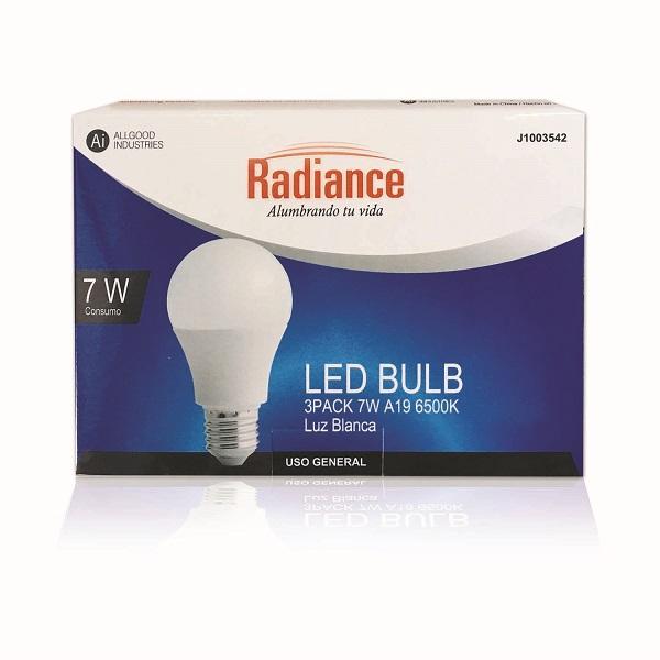 Bombillo LED de 7W y luz blanca de 3 unidades RADIANCE