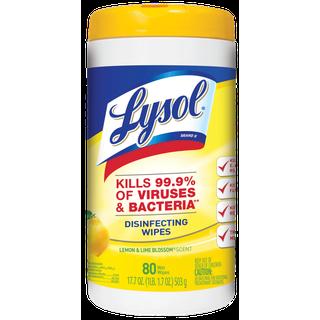 Desinfectante en wipes con aroma a limón 80 unidades- Lysol