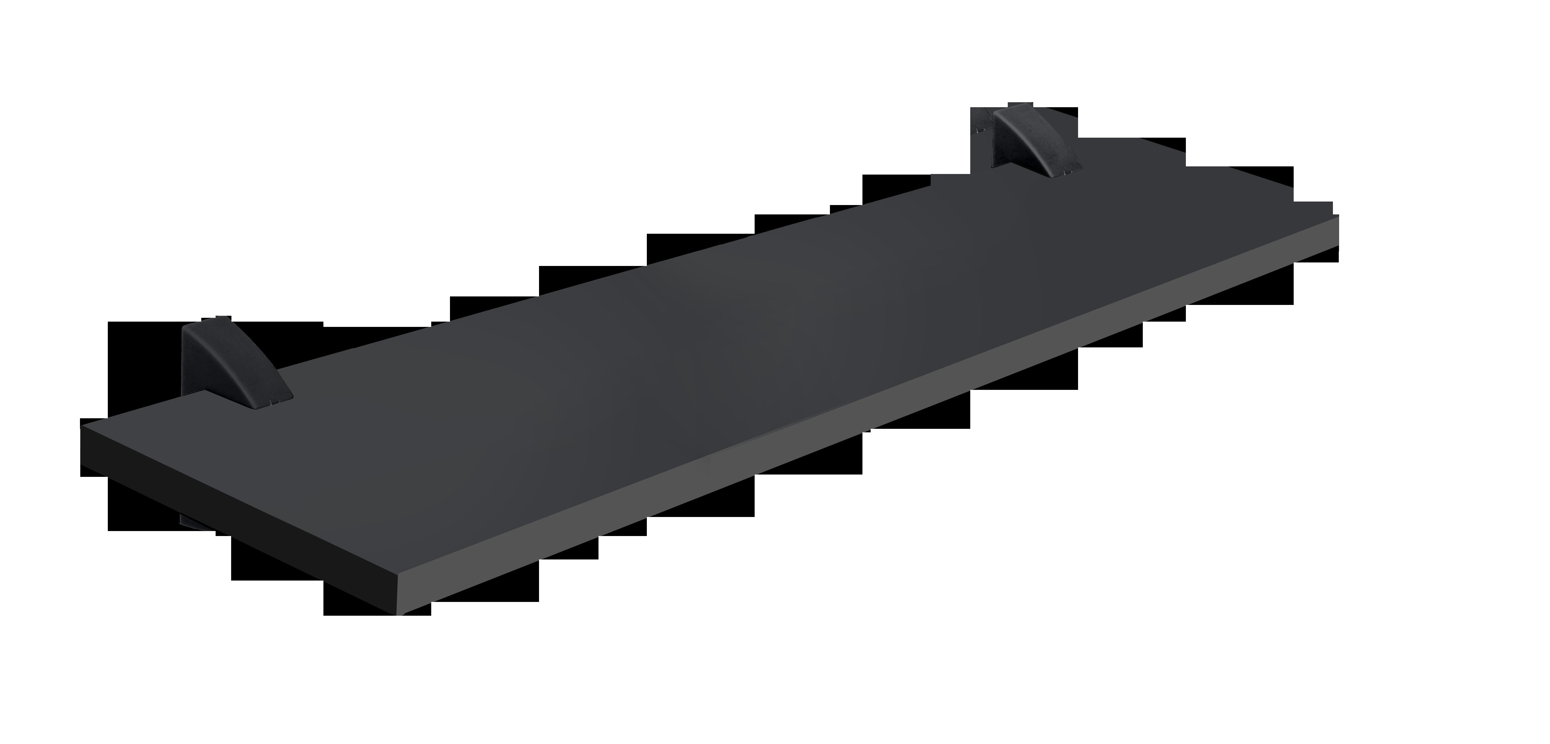 Repisa con soporte de 60cm x 20cm x 1.5cm negro con capacidad de 20 kilogramos p