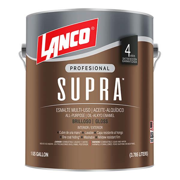 Esmalte de aceite para interior y exterior multiusos base tint supra x1/4 galón
