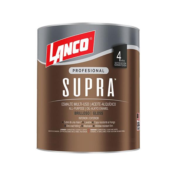 Pintura de esmalte alquídico Supra acabado brillante base tint de 1/4gl LANCO