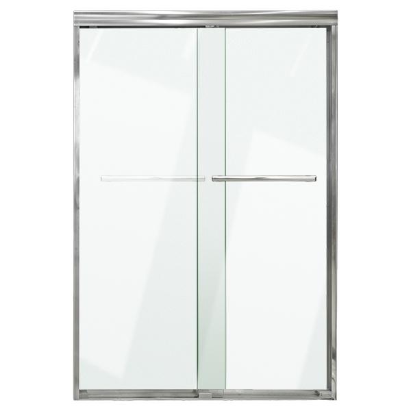 Puerta de vidrio templado de 1.50m x 1.80m para baño con acabado satinado AKUA