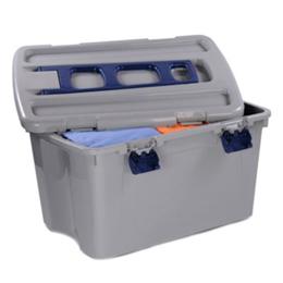 Caja plástica móvil para organizar con capacidad de 120L color gris RIMAX