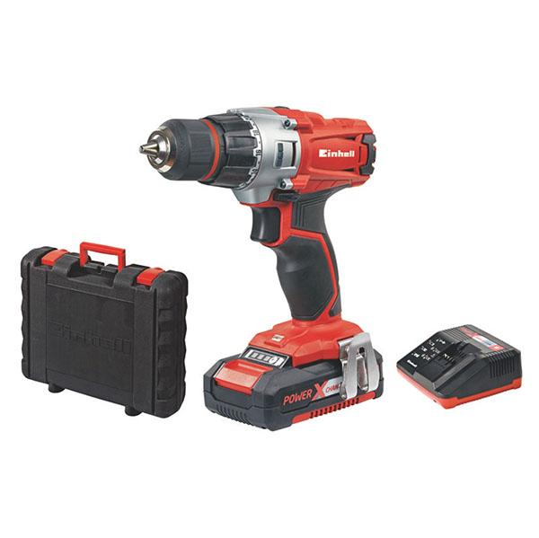 """Taladro rotacional 3/8""""  inalámbrico 18V + cargador+ 1 batería EINHELL"""