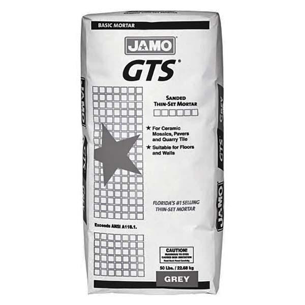 Pegamento para cerámica con arena GTS de 22.68kg de color gris JAMO