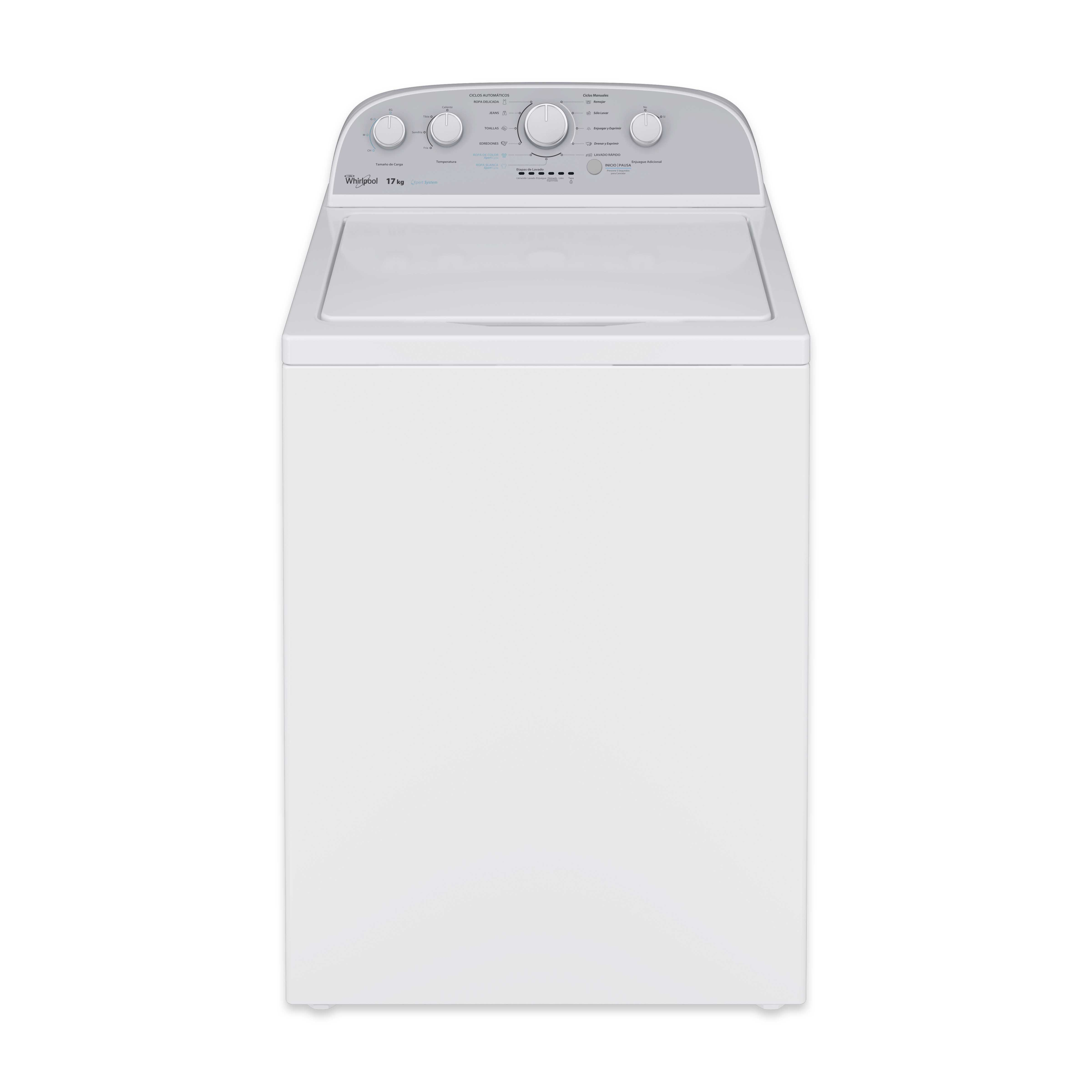 Lavadora automática de carga superior con capacidad de 17kg color blanco WHIRLPO