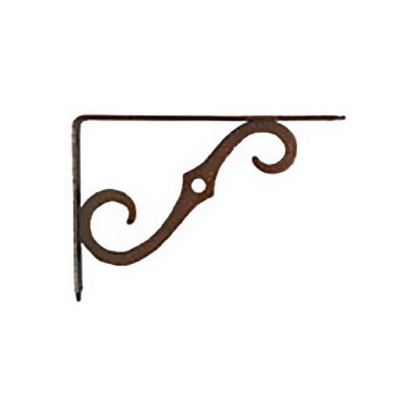 "Brazo decorativo de 8"" x 5-1/2"" para tablilla color bronce antiguo NATIONAL"