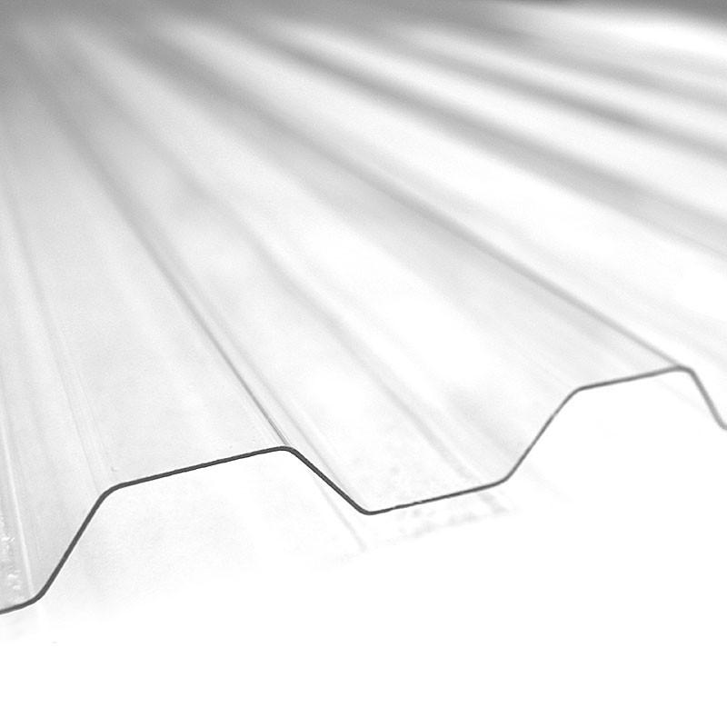 "Lámina de policarbonato de 42"" X 8' de canal ancho para techo de color transpare"