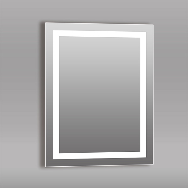 Espejo de pared de 80cm x 60cm rectangular con luz Led AKUA