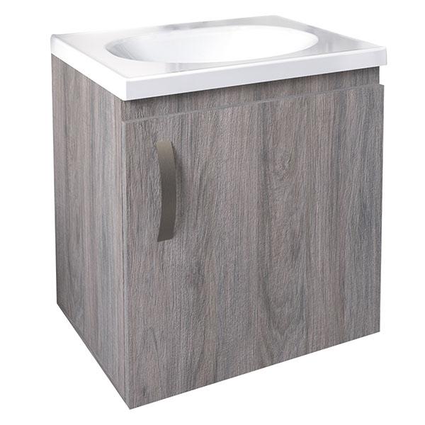 Lavamanos blanco con mueble de 48cm x 38cm modelo Eco de color tambo Firplak