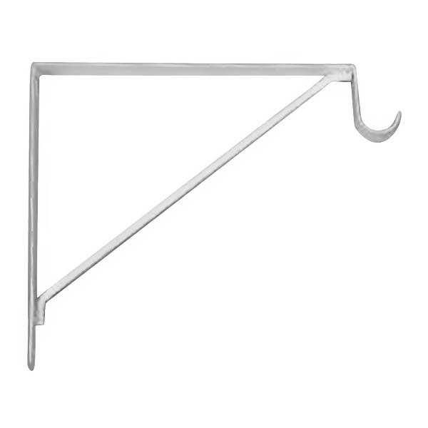 """Brazo fijo de 12"""" de metal decorativo para tablillas de color blanco KNAPE & VOG"""