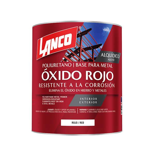 Pintura anticorrosiva Óxido Rojo de acabado mate de 1/4 galón (0.946 litros) LAN
