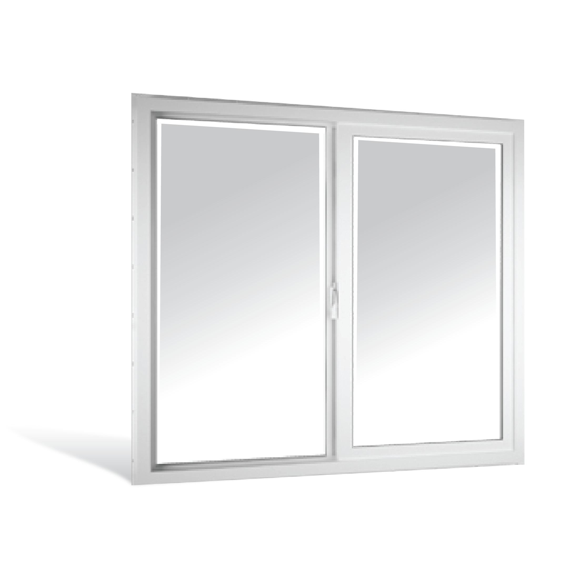 Ventana sencilla de 0.9m x 1.2m de PVC color blanco