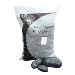 """Piedra de mármol de 1"""" decorativa negro pequeño x10 kilogramos pidecmar"""
