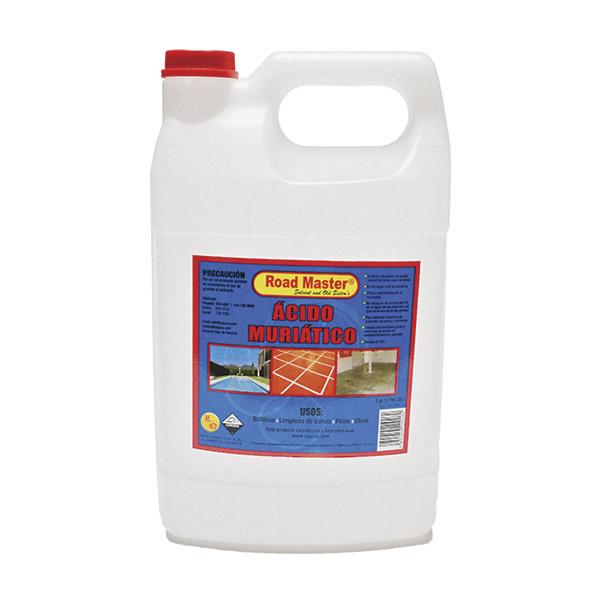 Ácido múriatico de 1/2gl para limpieza de baldosa, baños y pisos