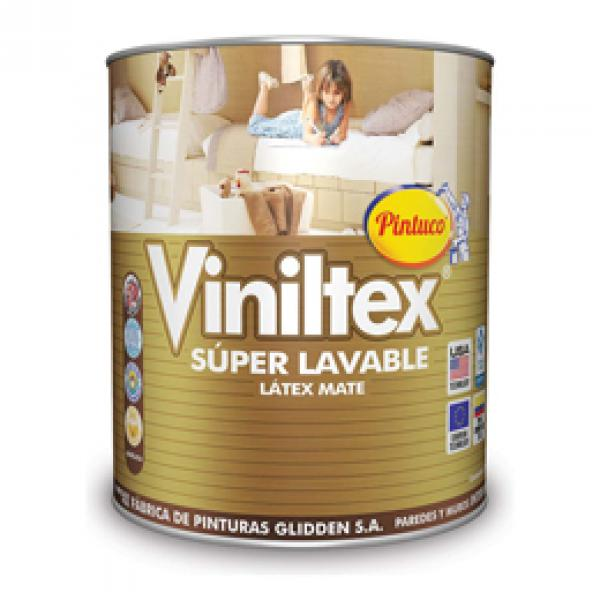 Pintura acrílica Viniltex Super Lavable mate base accent 1 galón (3.785 litros)