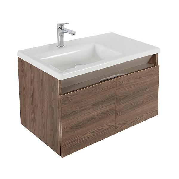 Mueble de baño Pontus Vital de 80cm con lavamanos blanco CORONA