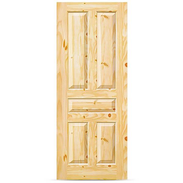 Puerta de madera de 2' x 7' de pino colonial natural de uso interior
