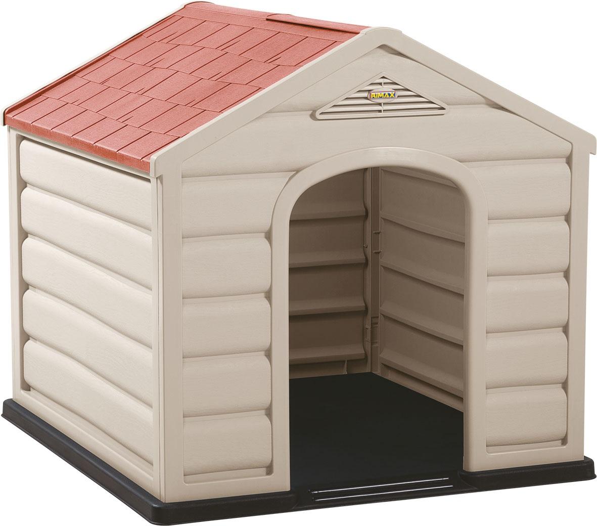 Casa de perro de 61cm x 68cm x 58.5cm plástica de razas pequeñas de color taupe/