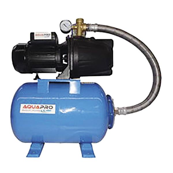Bomba para agua de 120V con potencia de 0.75HP y tanque de presion de 24L color