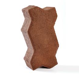 Adoquines Uni stone de 6cm x m2 de color rojo - empaque de 39 unidades x m2
