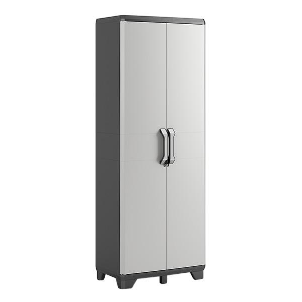 Armario Gear alto de plástico con 4 estantes ajustables color gris KETER