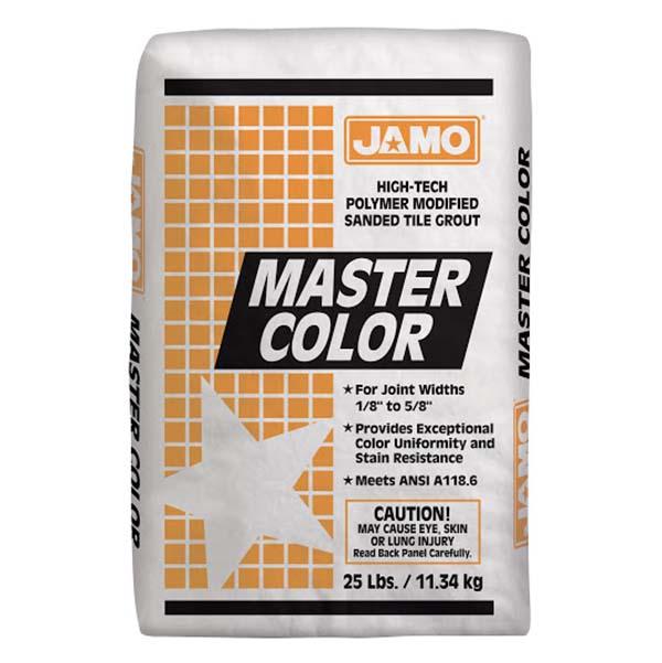 Lechada con arena Master Color de 11.34kg color almond JAMO