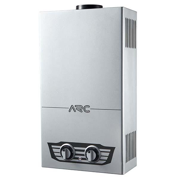 Calentador de agua a gas de paso de 20kw con capacidad de 10L color gris ARC