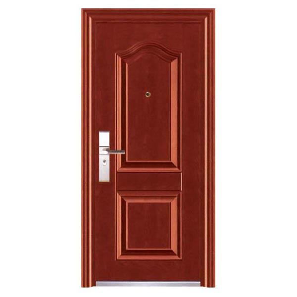 Puerta de metal aster con apertura izquierda de 3' x 7' de color chocolate caoba
