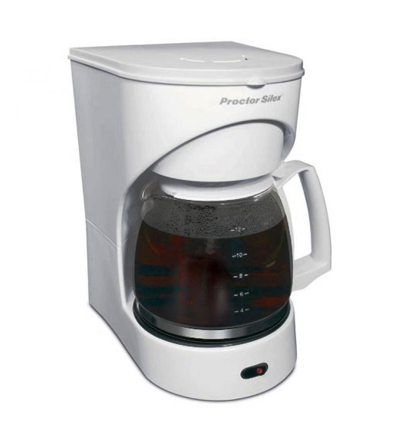 Cafetera de 12 tazas de color blanco PROCTOR SILEX