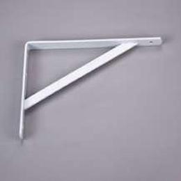 """Brazo de 12"""" tipo L de metal para tablilla color blanco KNAPE Y VOGT"""